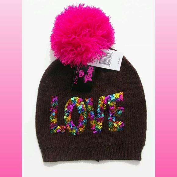 353c28fa235 NWT Betsey Johnson xox Trolls Love Pom Pom Hat
